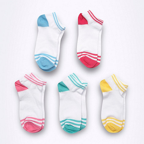 bluezoo - Girl+s white colour tipping socks