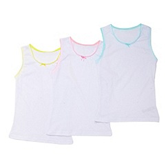 bluezoo - Girl's pack of three pure cotton vests