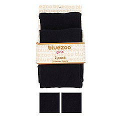 bluezoo - Girl's pack of two navy 20 Denier tights