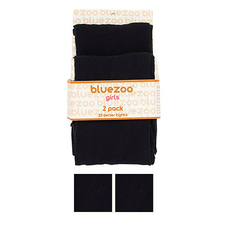 bluezoo - Girl+s pack of two navy 20 Denier tights