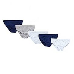 bluezoo - Boy's pack of five assorted briefs