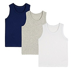 bluezoo - Pack of three boy's grey vests