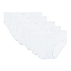 bluezoo - Pack of five girl's white lace briefs