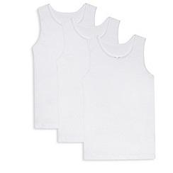 Debenhams - Pack of three girls' white vests
