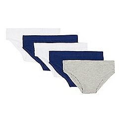 Debenhams - Pack of five boys' assorted briefs