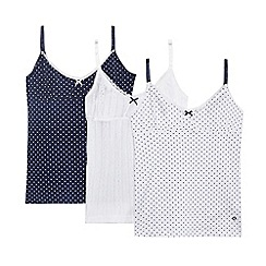 J by Jasper Conran - Pack of three girls' spot print vests