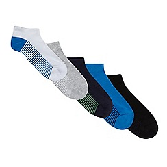 Debenhams - Pack of five boys' multi-coloured cushioned socks