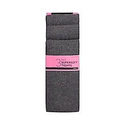 Debenhams - Pack of three girls' grey tights