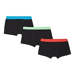 Debenhams - Pack of three boys' black trunks