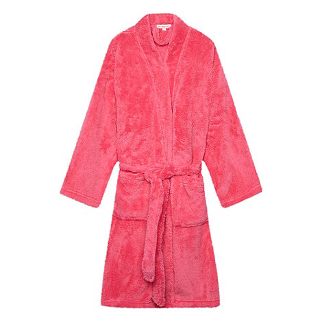 bluezoo - Girl+s pink fluffy dressing gown