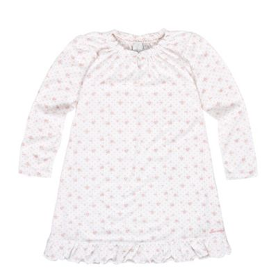 Girls White Rose Print Nightdress