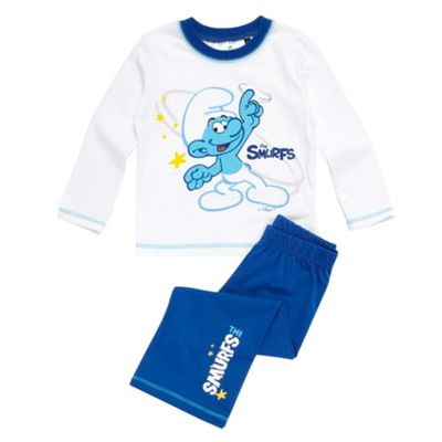 Girls Blue Smurfs Pyjamas