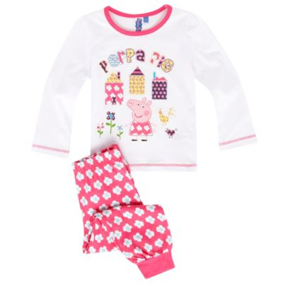 Girls Pink Peppa Pig Pyjamas
