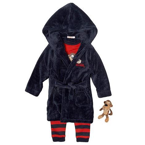 bluezoo - Boy+s navy monkey pyjama set