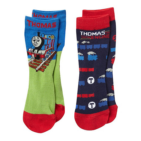 Thomas & Friends - Pack of two boys+ blue +Thomas the Tank Engine+ socks