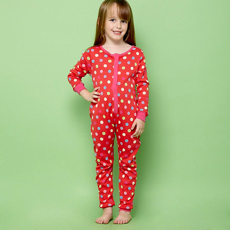 bluezoo - Girl+s red spotted onesie