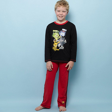 Moshi Monsters - Boy+s black +Moshi Monsters+ trouser pyjama set