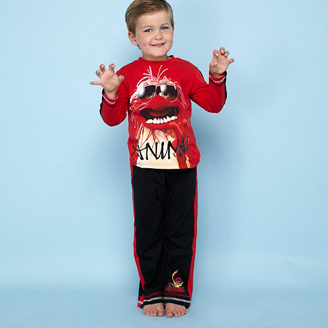Muppets - Boy+s red +Animal+ pyjamas