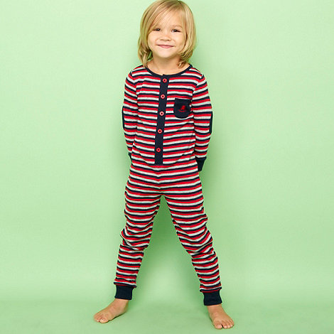 J by Jasper Conran - Designer boy+s red striped onesie