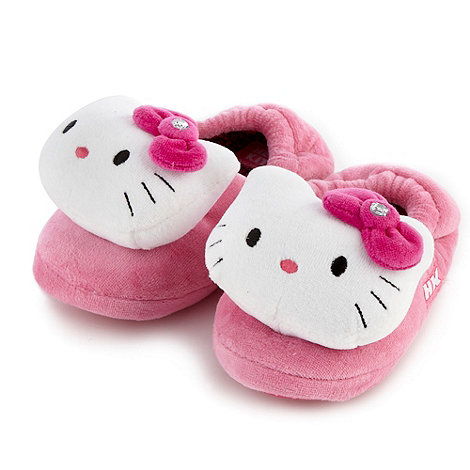 Hello Kitty - Girl+s pink +Hello Kitty+ slippers
