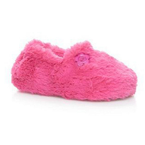 bluezoo - Girl+s bright pink faux fur slippers