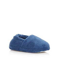 bluezoo - Boy's dark blue fleece slippers