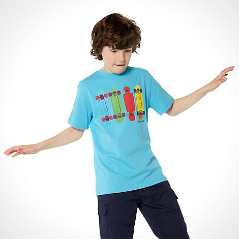 Animal - Boy+s Blue Skateboard T-shirt