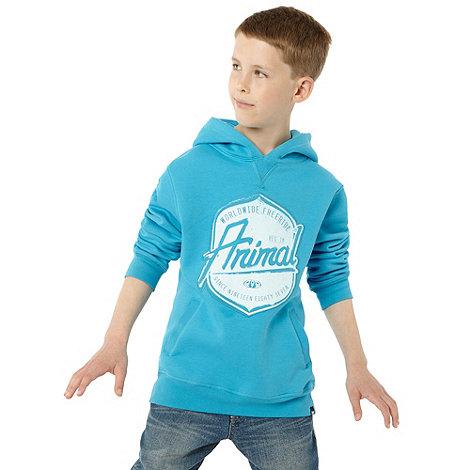 Animal - Boy+s Blue Overhead Logo Hoodie