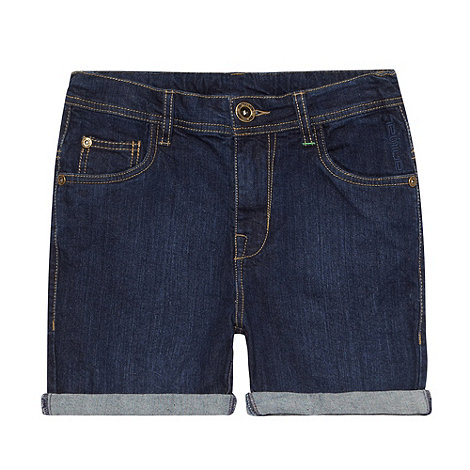 Animal - Boy+s dark blue denim shorts