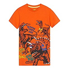bluezoo - Boys' orange dino music print t-shirt