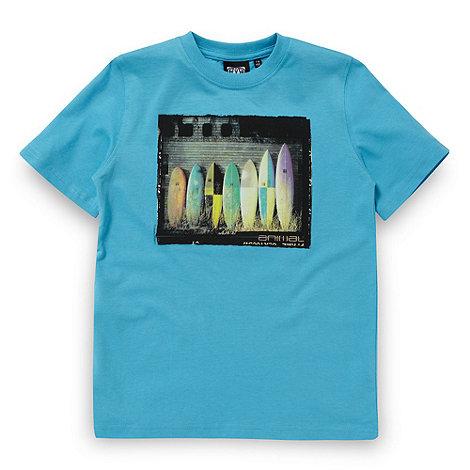 Animal - Boy+s Blue Surfboard Graphic T-shirt