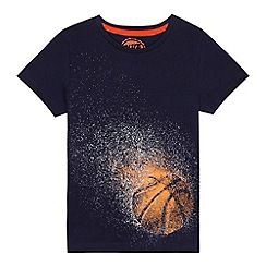bluezoo - Boys' navy basketball print t-shirt