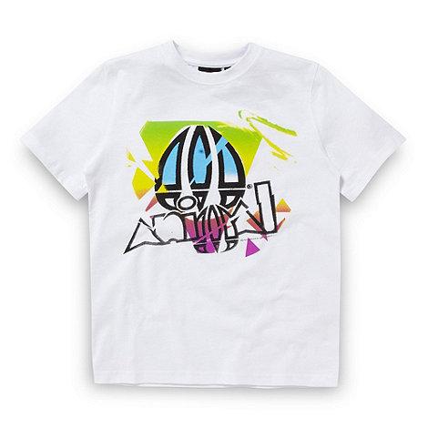 Animal - Boy+s White Retro Logo T-shirt