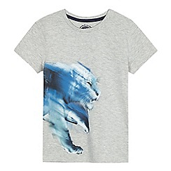 bluezoo - Boys' grey tiger print t-shirt
