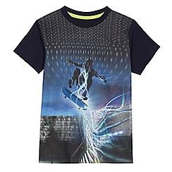 bluezoo - Boys' navy graphic print t-shirt