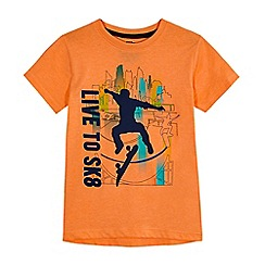 bluezoo - Boys' orange skateboard T-shirt