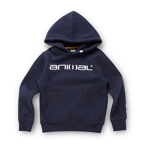 Animal - Boy+s navy logo hoodie