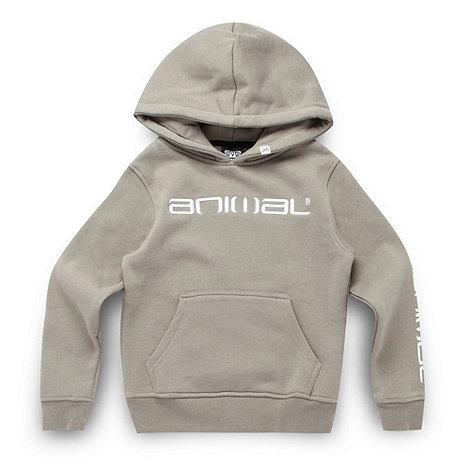 Animal - Boy+s grey logo hoodie