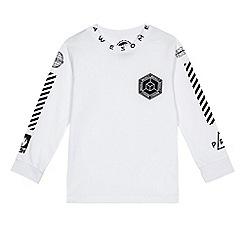 bluezoo - Boys' white long sleeve skater t-shirt