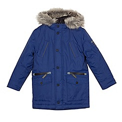 J by Jasper Conran - Boys' blue waterproof parka coat