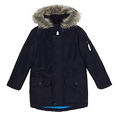 bluezoo - Boys' navy water resistant parka