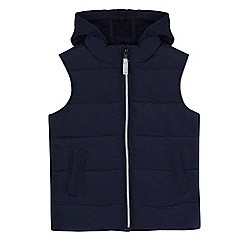 bluezoo - Boys' navy padded hooded gilet