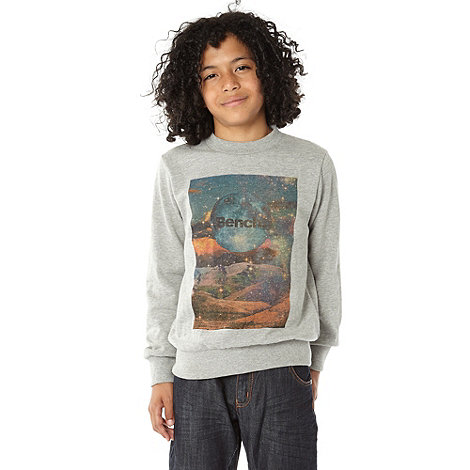 Bench - Boy+s grey space printed jumper