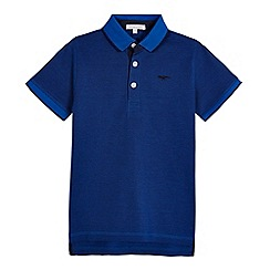 bluezoo - Boys' bright blue dinosaur polo shirt
