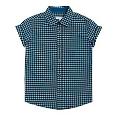 bluezoo - Boys' multicoloured checked short sleeved shirt