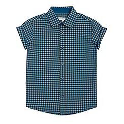 bluezoo - Boys' multicoloured checked short sleeved shirt