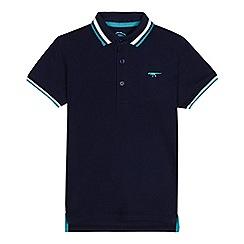 bluezoo - Boys' navy tipped polo shirt