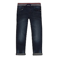 bluezoo - Boys' blue striped waistband slim jeans