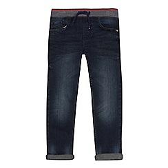 bluezoo - Boys' blue striped waistband slim jeans