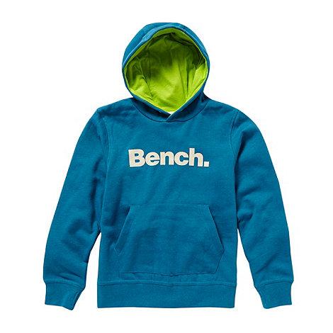 Bench - Boy+s blue logo hoodie